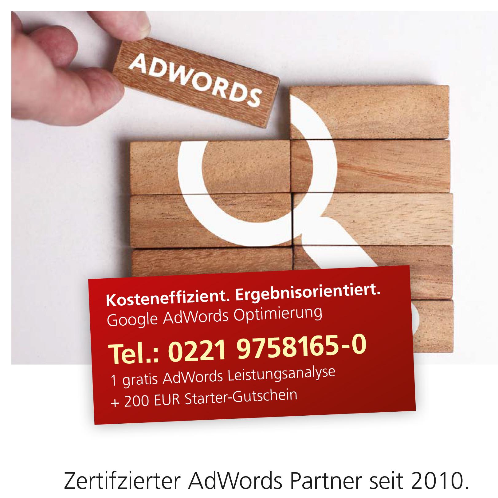AdWords Leistungen eCommerce