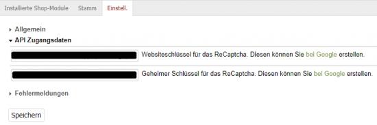 OXID Google ReCaptcha