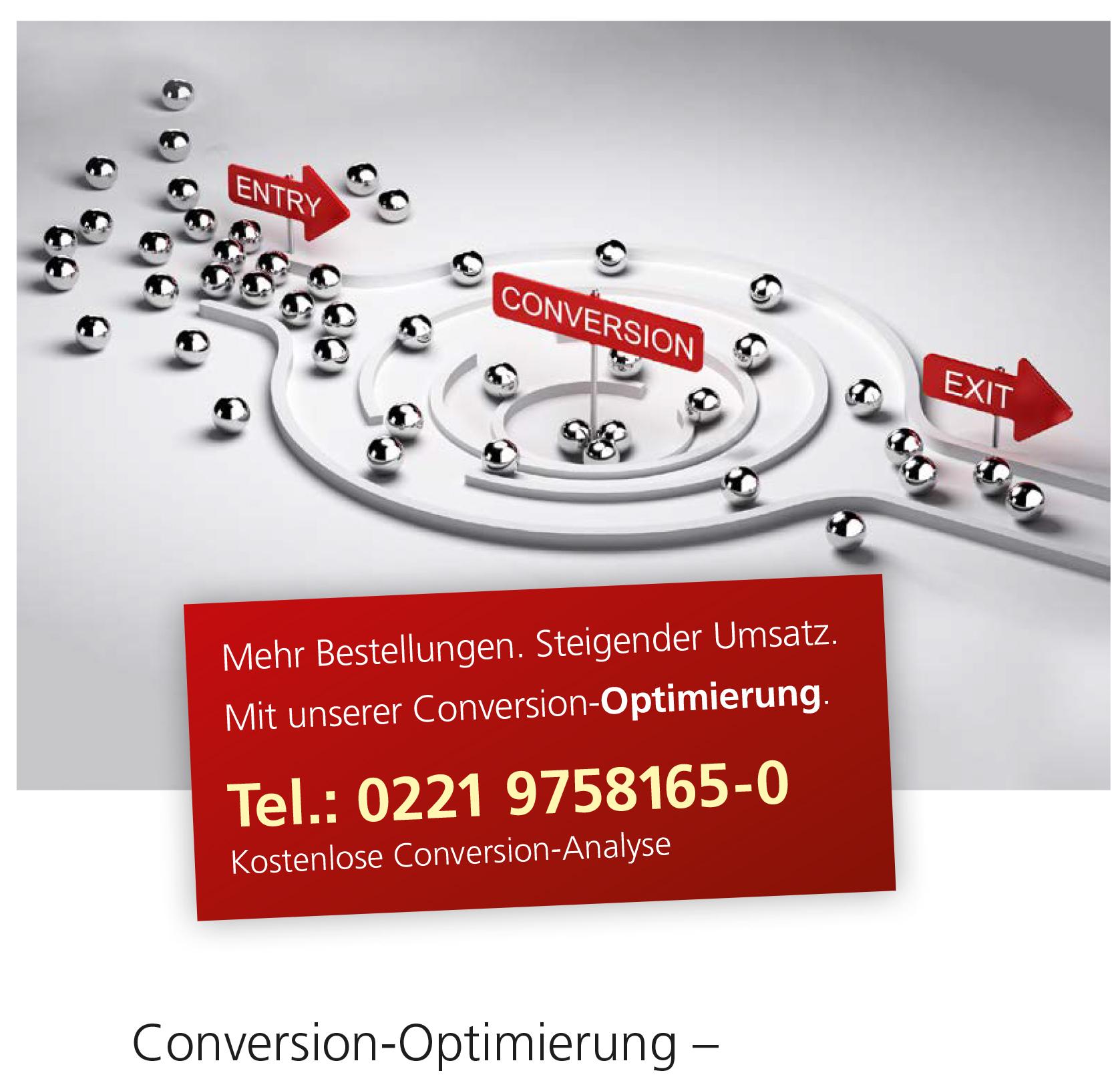 Conversion Leistungen eCommerce